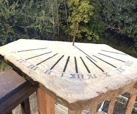 Sundial Rock for the Garden