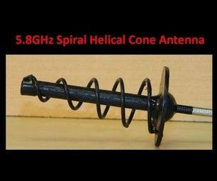5 8GHz Spiral Helical Cone Antenna