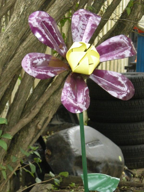 Make a Steel Garden Flower