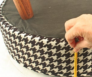 How to Upholster a Round Stool