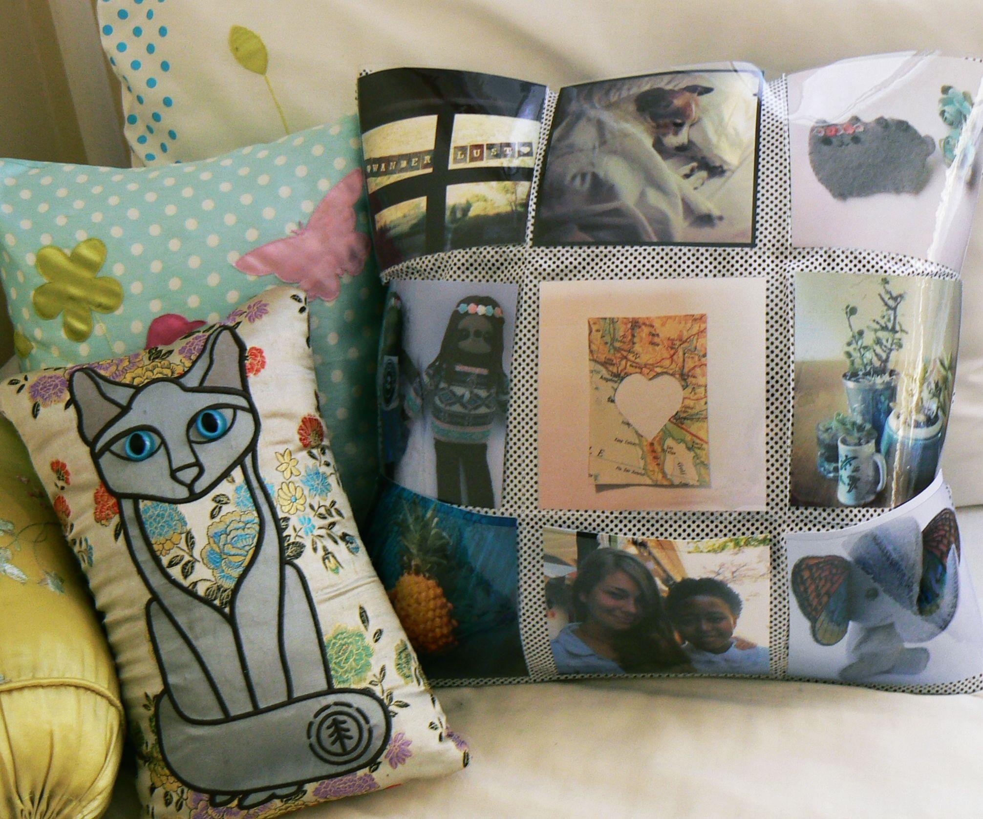 DIY Photo Pocket Cushion