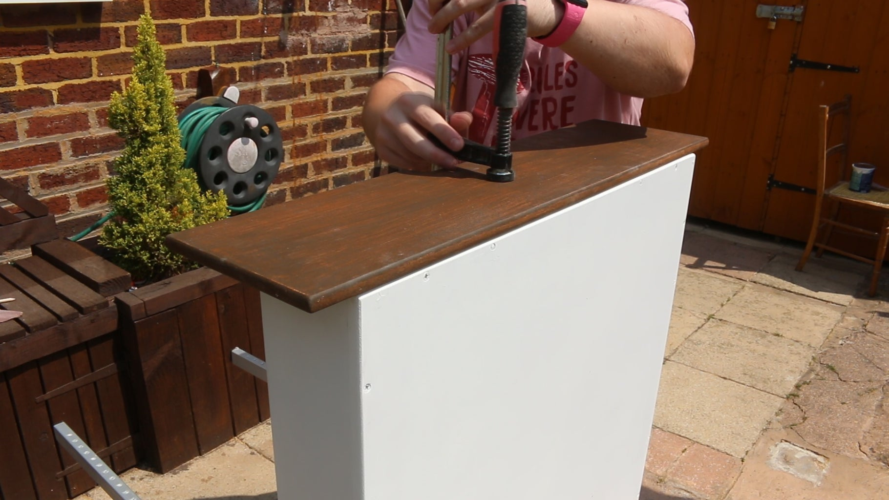 Glue on the Drawer Fronts