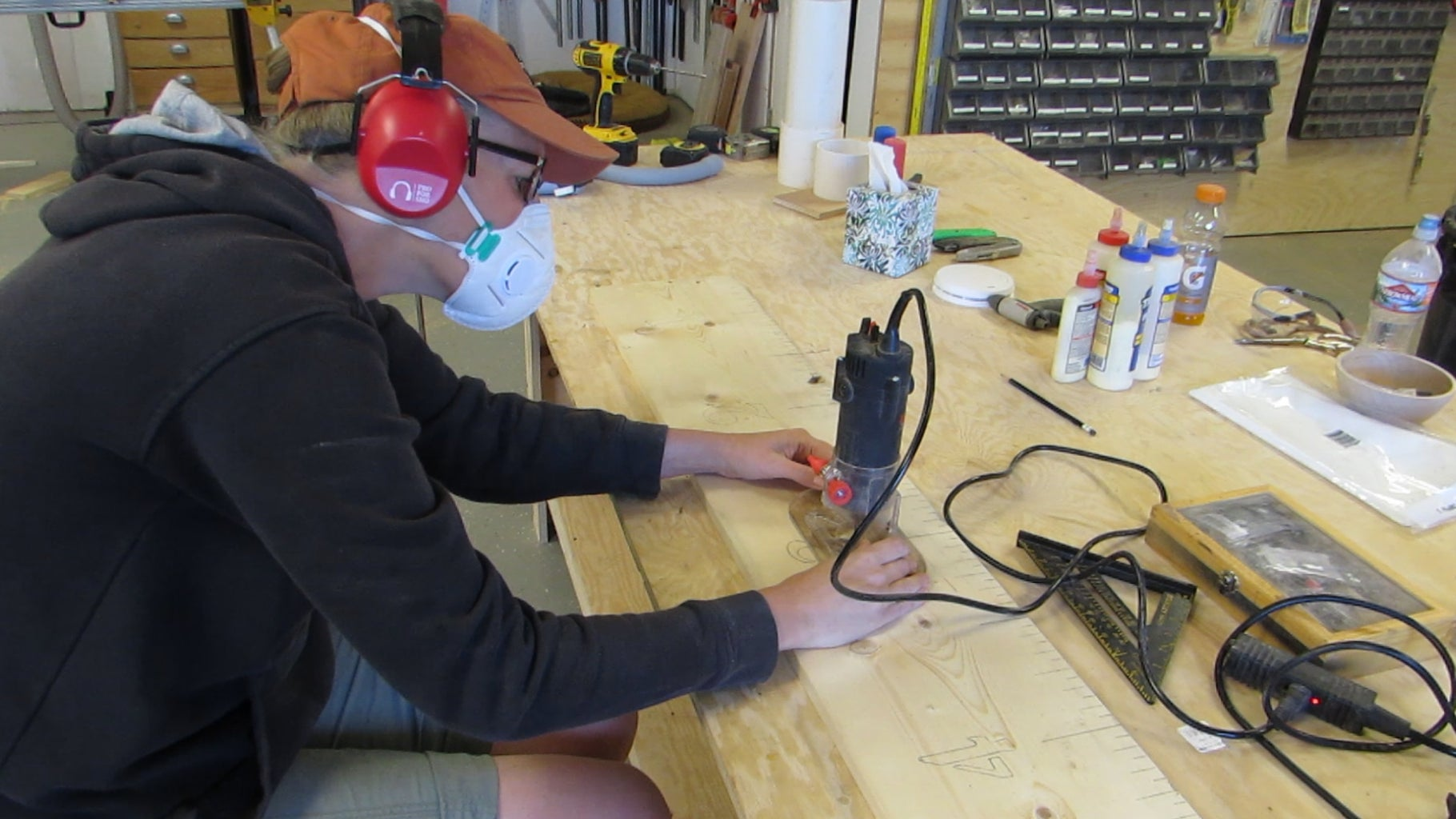 Router the Lines and the Numbers or Use a Wood Burner