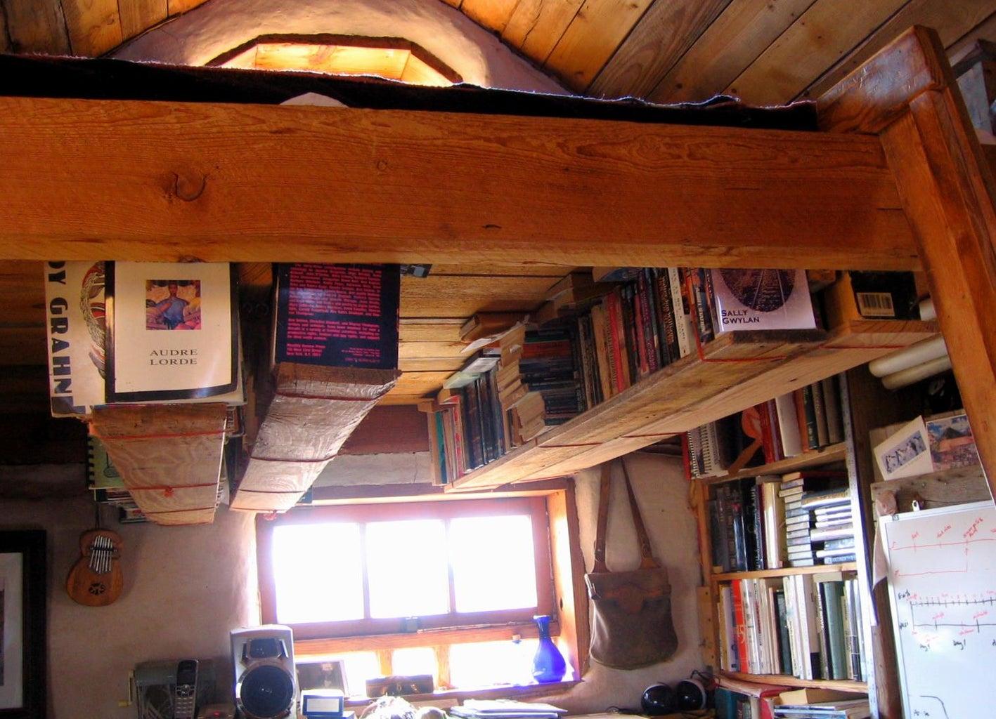 Boards & Baling Twine: a Rafter Bookshelf