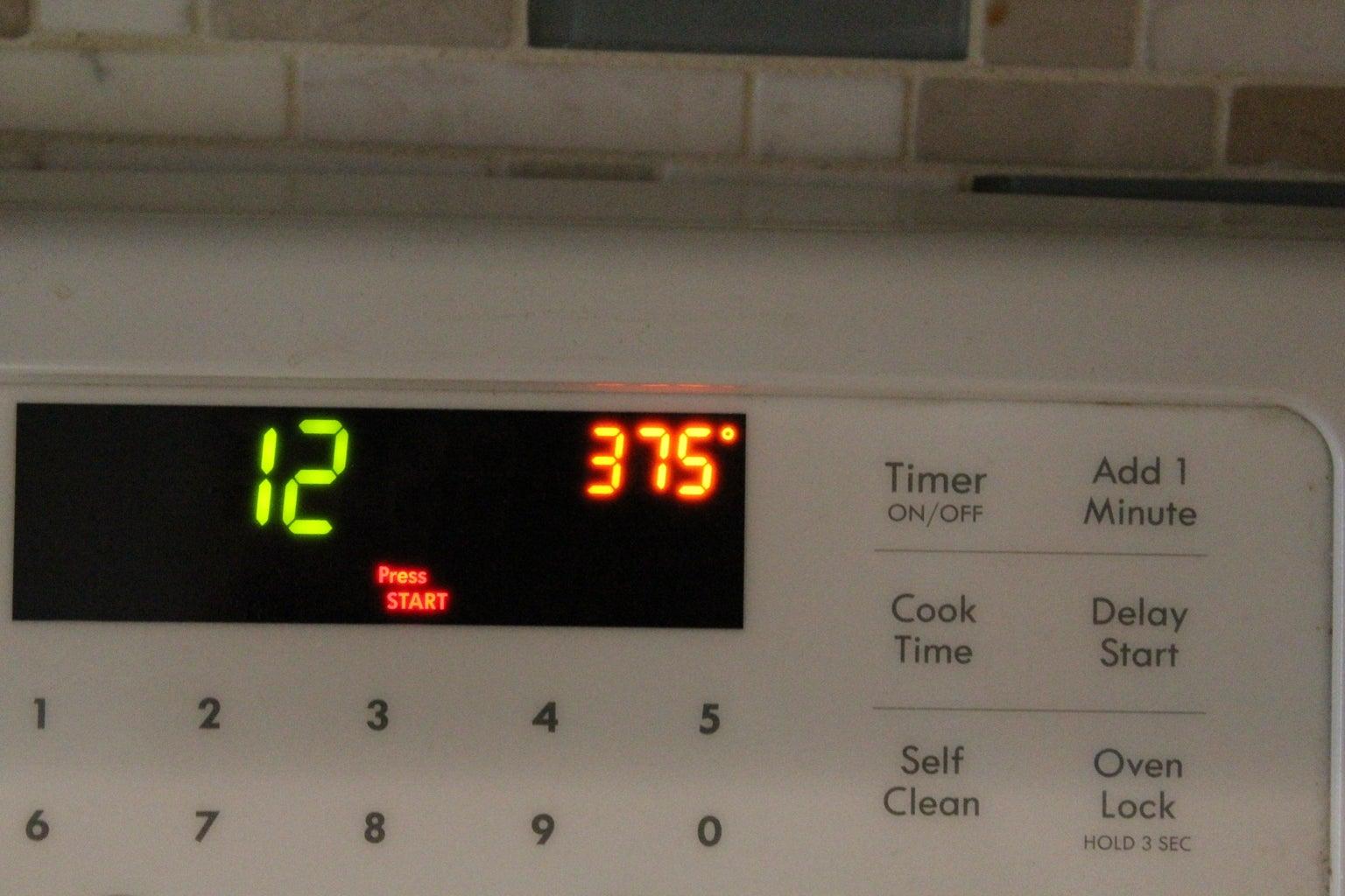 Increase Oven Temperature