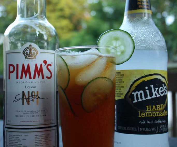 "Simple ""Hard"" Pimm's Cup"
