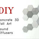 DIY Concrete Sound Diffusers