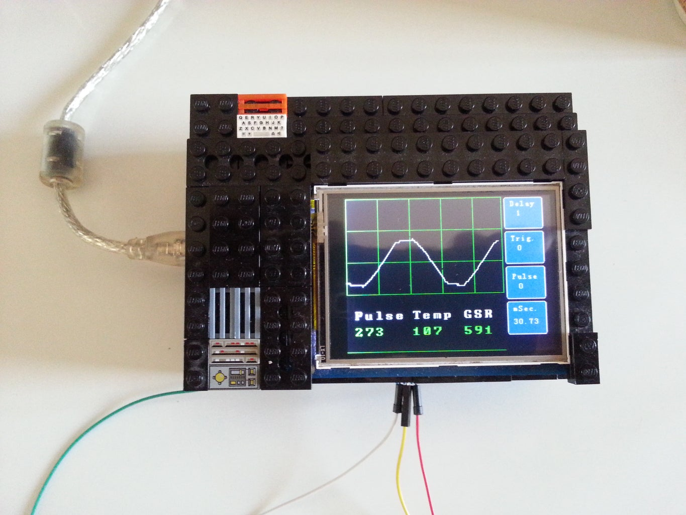 UPDATE:  Sketch to Convert Oscope to 3 Channel DVM With Graphic Display + Lego Enclosure