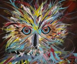 "Owl Painting ""Coffee??"""