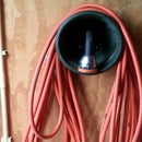 Hose Holder from plant pot