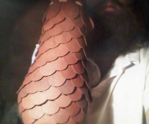 Leather Lamellar(scale) Bracer