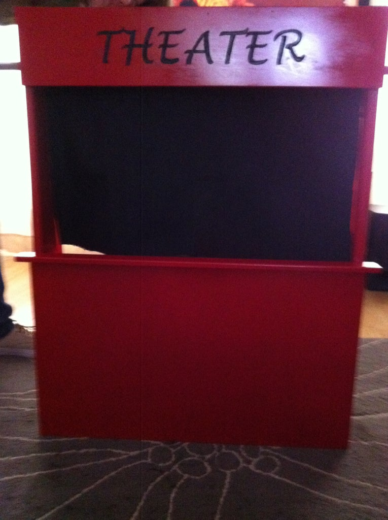 DIY Table Top Puppet Theater/ Portable Puppet Theater