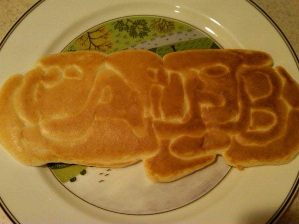 How to Put Your Kids' Names in Their Pancakes