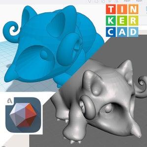 Using Meshmixer to Make Tinkercad Models Look More Organic