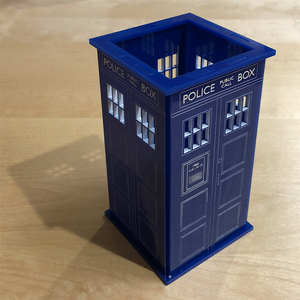 Personalized Tardis Pencil Cup