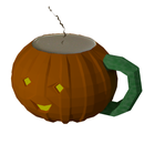 3D Jack-O'-Lantern Coffee Cup in Blender