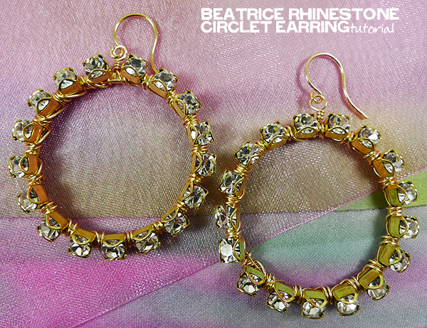 Beatrice Rhinestone Circlet Earring