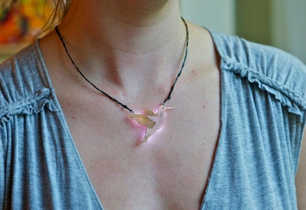 PCB Hummingbird Necklace