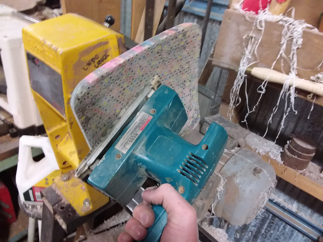 Stop the Lathe and Continue Sanding