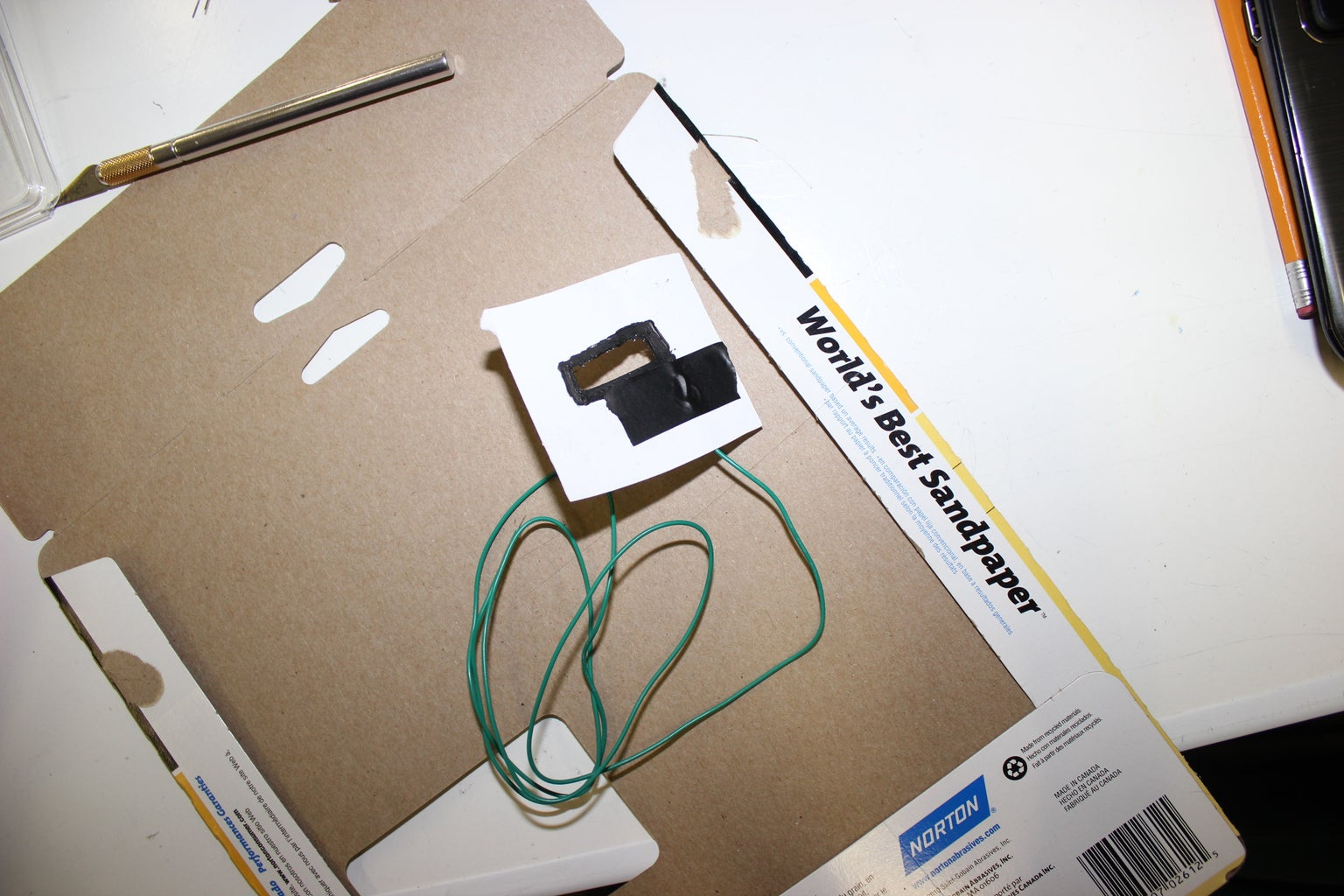 Step 004 - Attach the Wire to the Conductive Paint