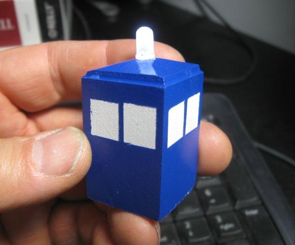 Miniature LED TARDIS Throwaways