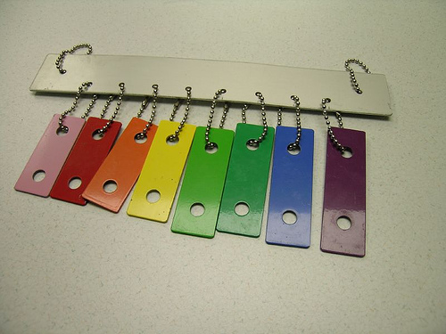 Xylophone windchime from a children's toy