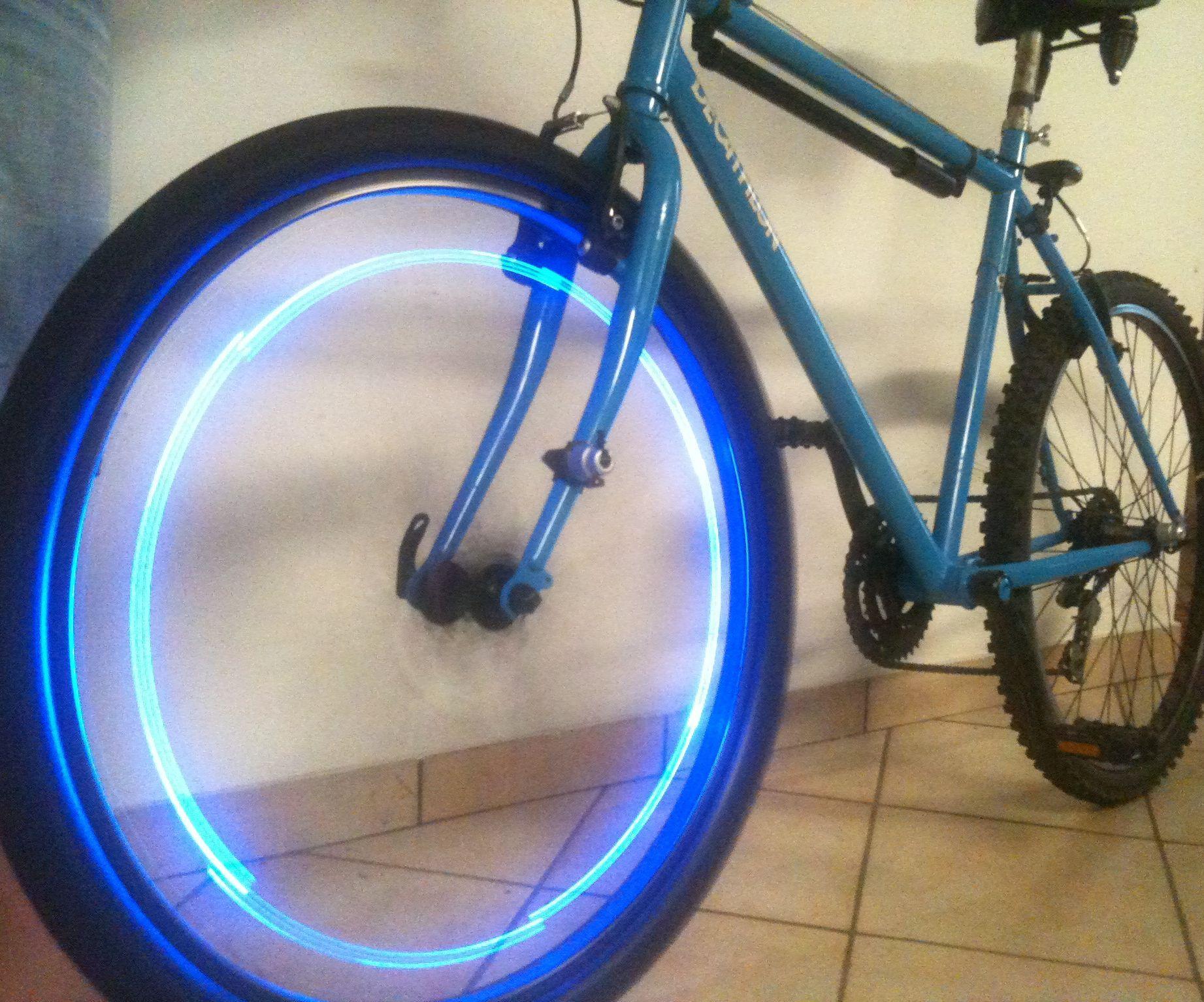 Blue LED Bike Wheel
