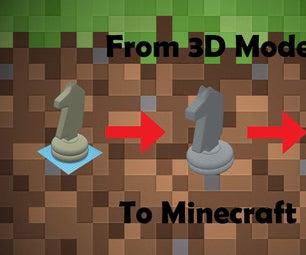将自定义3D模型导入您的Minecraft World
