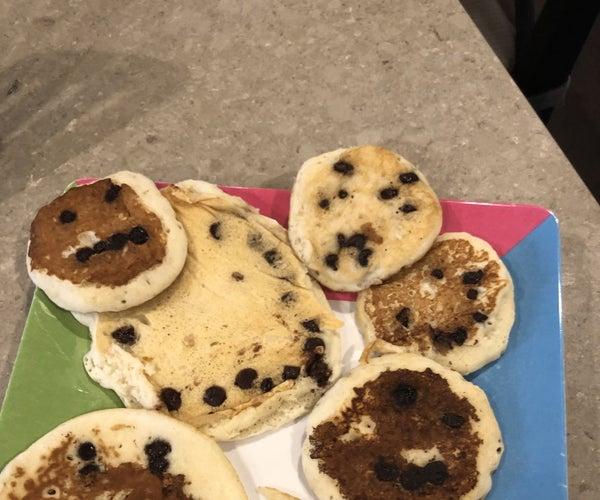 Emoji Chocolate Chip Pancakes