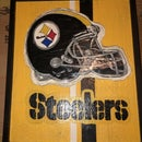 Wooden Steeler's Sign