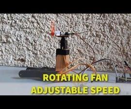 Rotating Fan Using Servo Motor and Speed Control