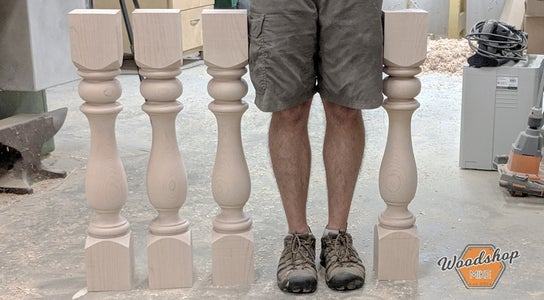 How to Make Identical Table Legs on a Wood Lathe