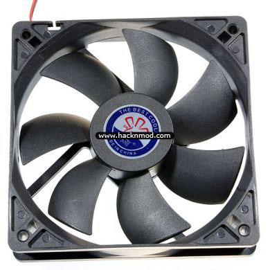 heat activated cooling fan