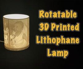 Rotatable Custom Picture Lamp - 3D Printed Lithophane Lamp