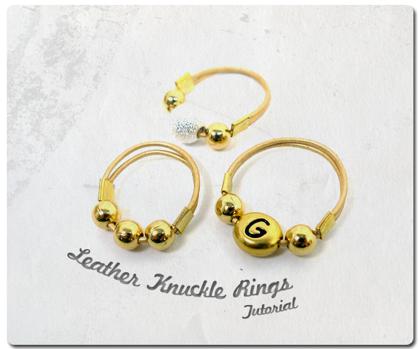 Leather Knuckle Rings