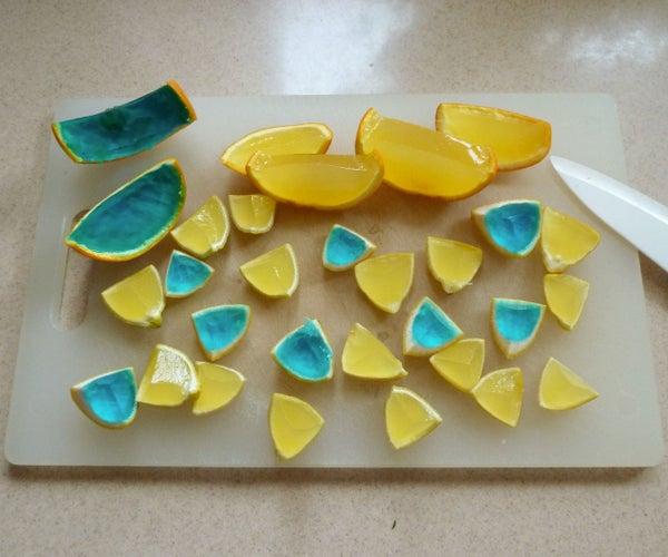 Gelatin Filled Fruit Prank