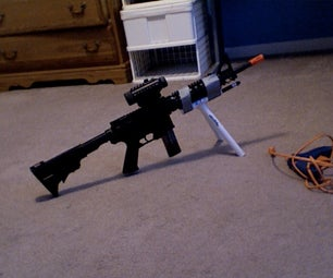AIRSOFT PVC BIPOD With LASER