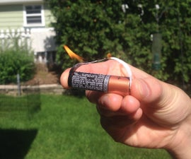 Make a Lighter Out Of: Battery + Gum Wrapper