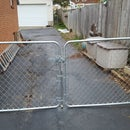 Dog-Proof Chain Link Fence Double Gate Latch