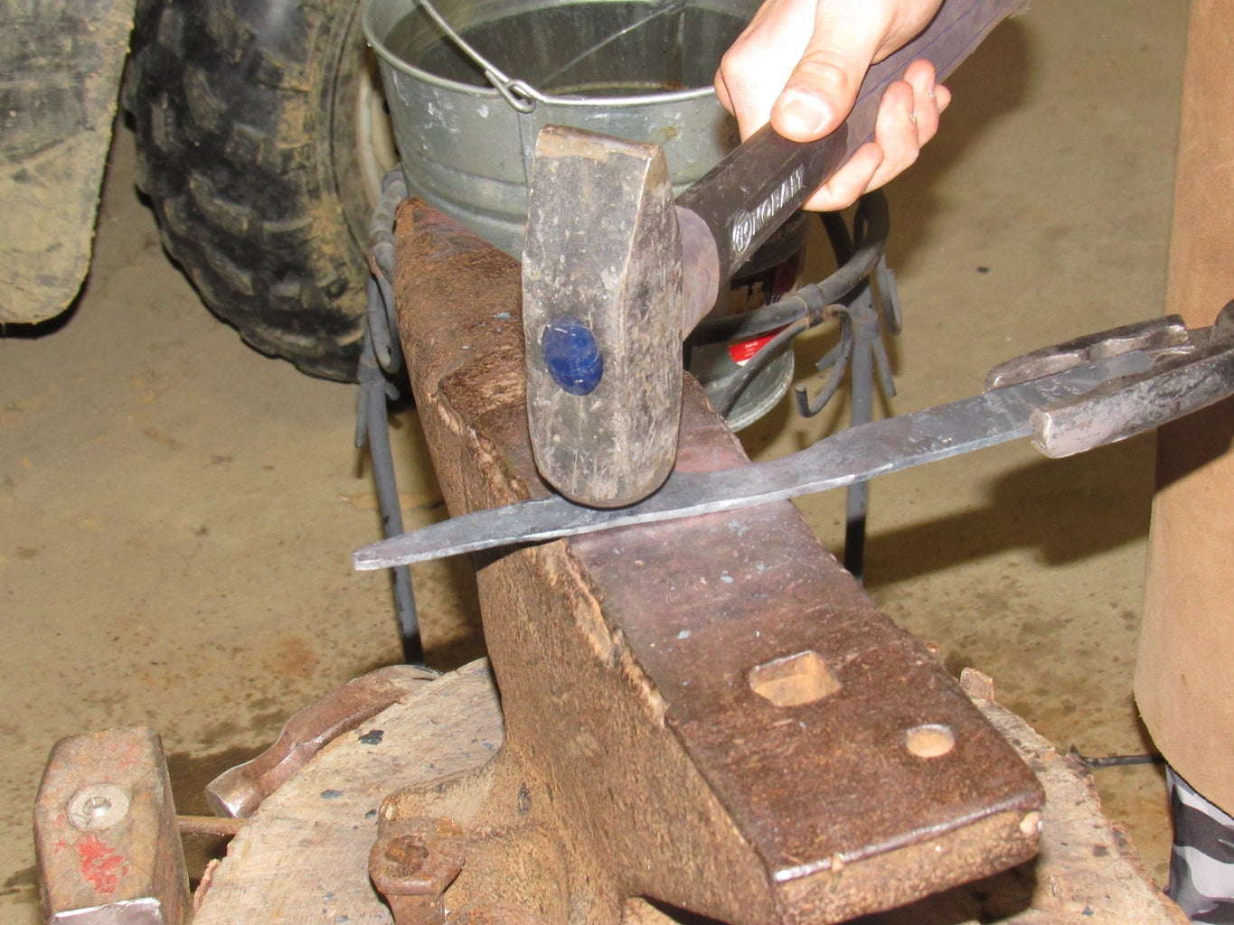 Beginning to Form the Handle
