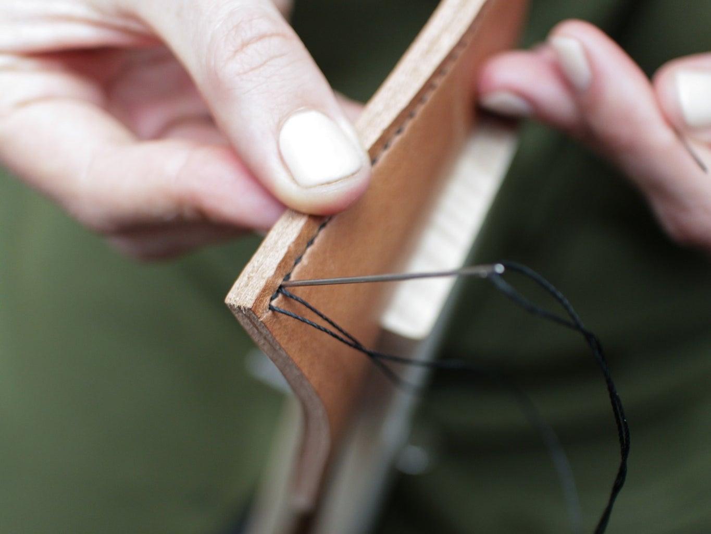 Using the Stitching Pony for the Two Needle Saddle Stitch
