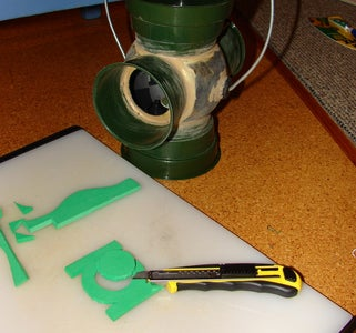 Cut Out Green Lantern Symbol and Attach Ready for Painting