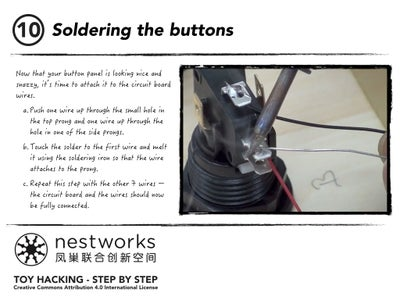 Soldering the Buttons