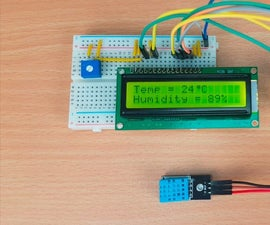Humidity Sensor System DHT11  on Arduino