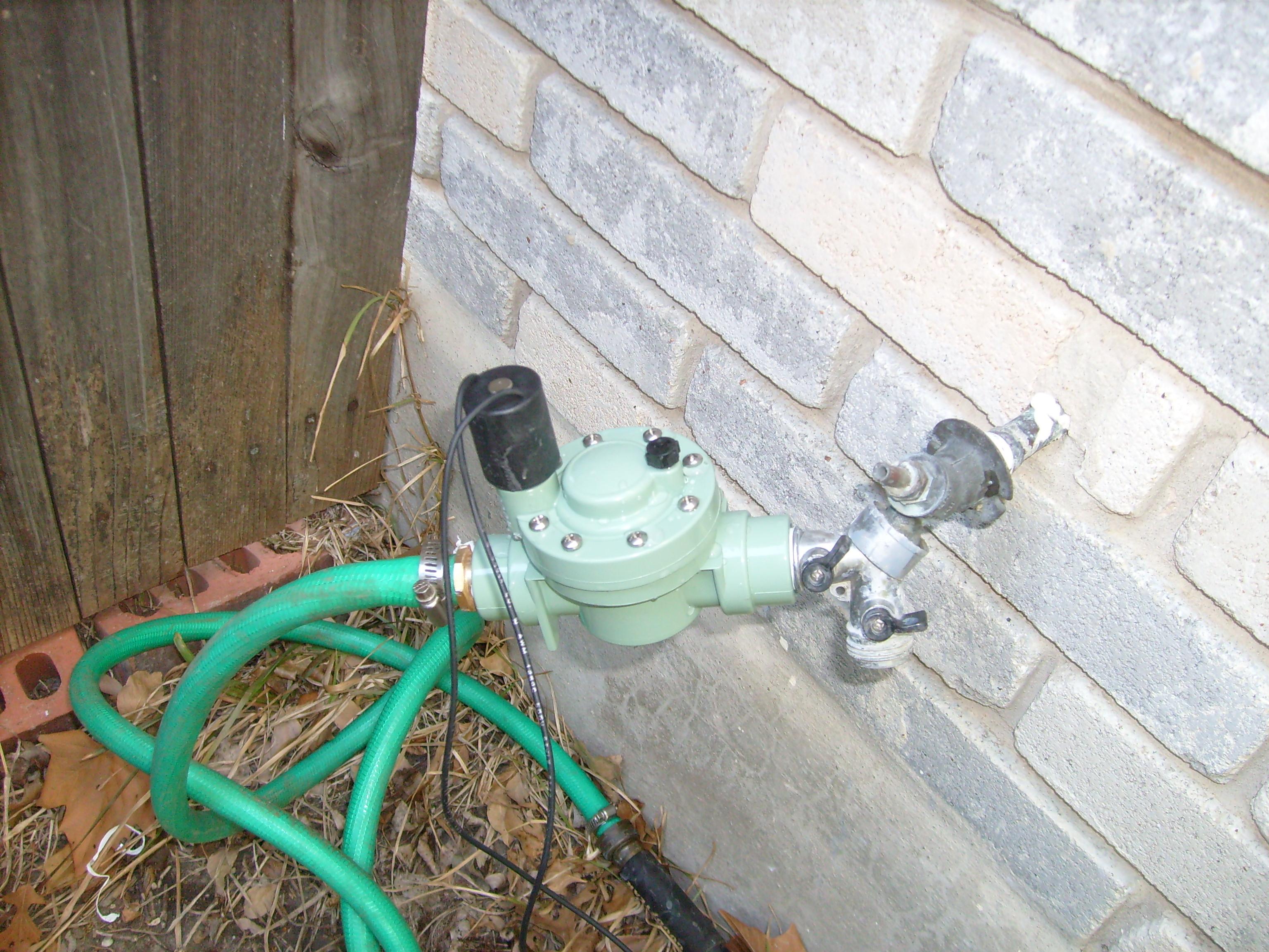 Poor-mans automatic sprinkler.