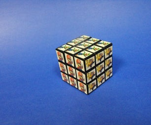 Custom Mario Themed Rubik's Cube