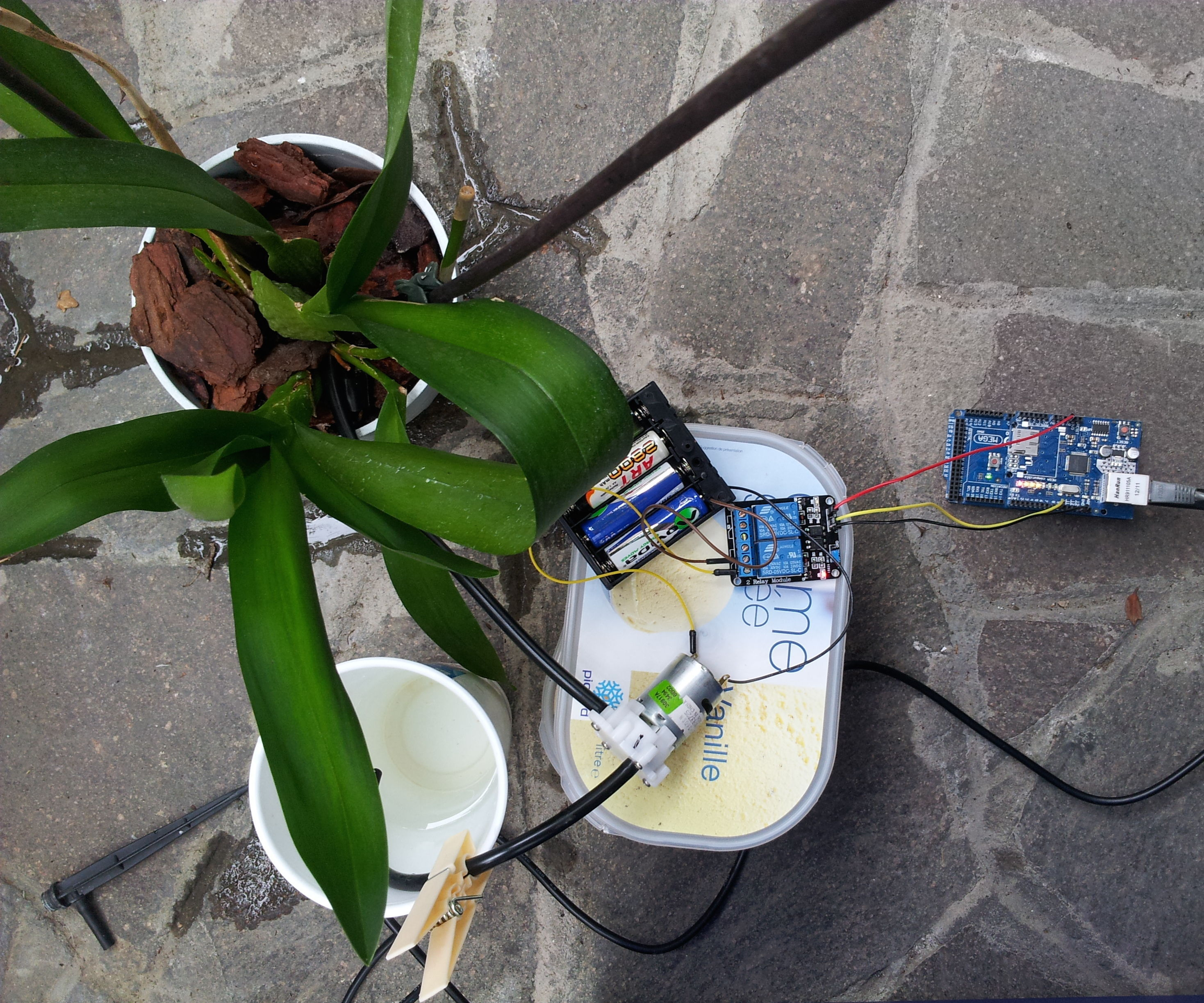 Arduino water system to wet your plant
