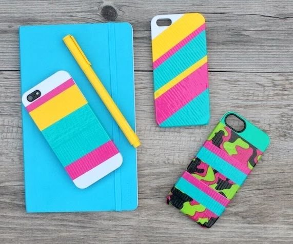 Striped IPhone Case With Duct-tape