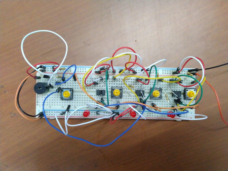 Quiz Buzzer Using 555 Timer IC