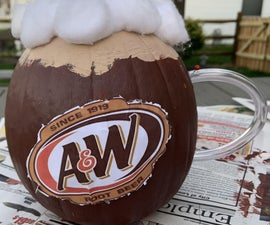 Mini Pumpkin Root-beer Float
